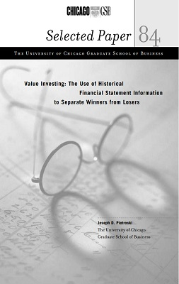 Value Investing by Joseph Piotroski